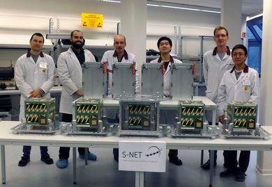 team before shipping of satellites